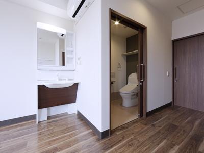 バリアフリーのトイレ・洗面